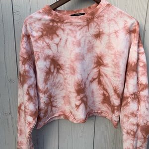 Tie Dye Cropped Sweater